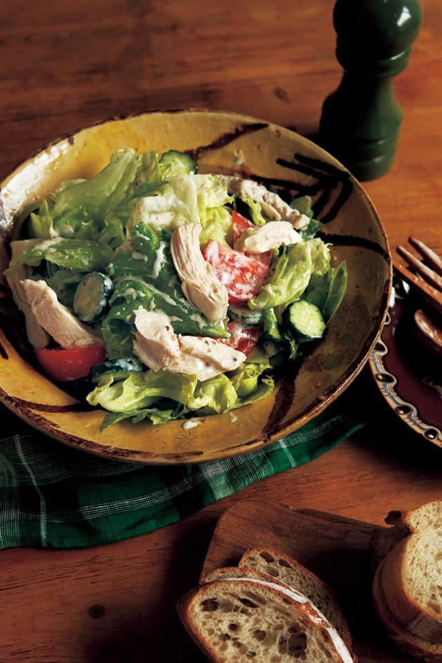 画像: サラダチキンのボリュームサラダ
