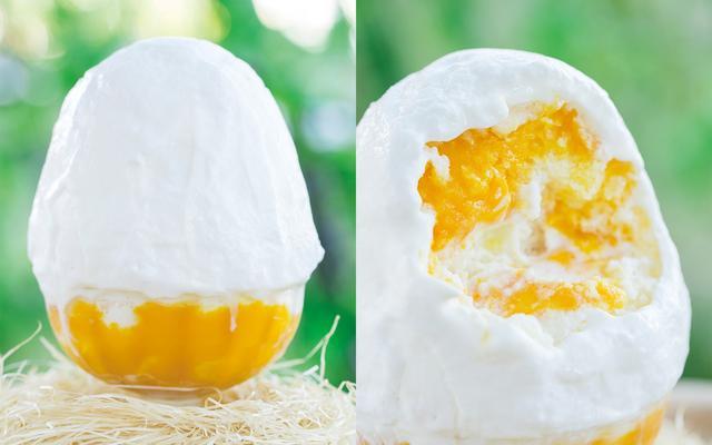 画像: マンゴーかき氷 ¥1,300(税別) 6月30日発売 《説明》特製のマンゴーソースに漬け込んだマンゴーをちりばめました。ココナッツムースのソースとマンゴーは夏にぴったりの逸品です!