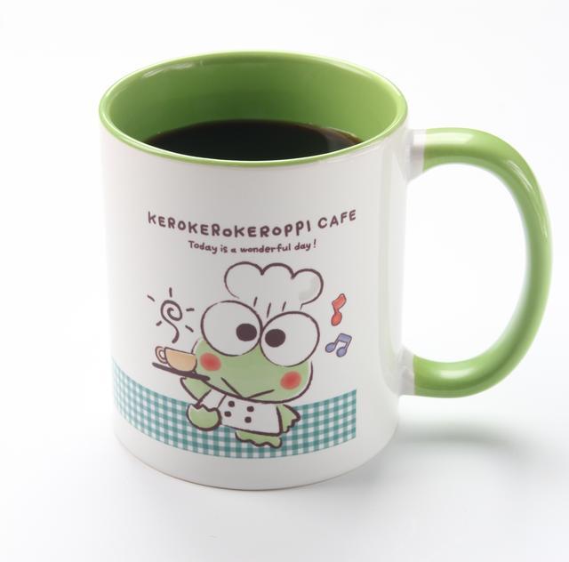 画像: けろけろけろっぴカフェ限定デザインマグカップ付ドリンク(全3柄)1,598円(税込)