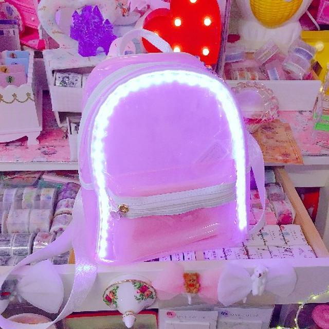 画像2: 韓国で大人気!ピカピカ光るかわいいリュック!