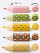 画像1: おいしい色鉛筆!?マシュマロと食べるロールケーキ「色えんぴつろーる」