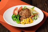 画像: ◆炭火焼肉 トラジ<3F> 和風ハンバーグ トラジサラダ添え 1,280円(税込) 人気サラダと和風ハンバーグのコラボレーションです。