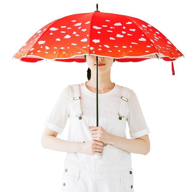 画像: YOU+MORE! 晴雨兼用 ベニテングタケの傘|フェリシモ