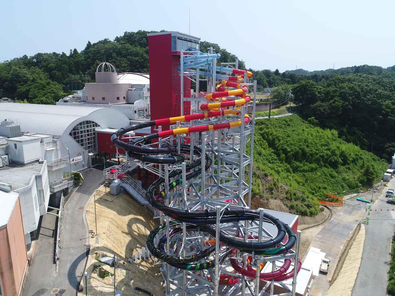 画像1: 【動画あり】高低差・長さ日本一のボディスライダー「BIG☆ALOHA」が登場!