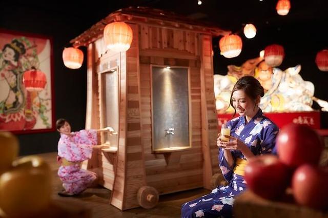 画像: 2種類のりんごジュースの出る蛇口が新登場!「じゃわめぐりんご×ほたて祭り」