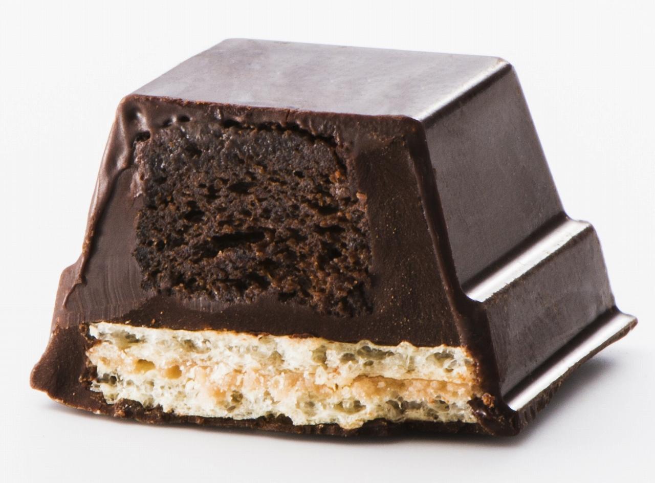 """画像1: """"しとっサクっ""""新食感のキットカット型ケーキ「キットカット ショコラトリー ガトーミニョン」"""