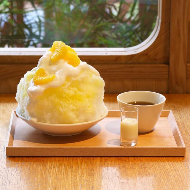 画像: 「甘夏みかんのふわとろかき氷」 880円(税抜) 甘酸っぱい夏みかん蜜に、とろ~りミルククリームが相性抜群◎ ごろっとのったジューシーな甘夏みかんのほろ苦さが、爽やかな甘みを引き立てます。