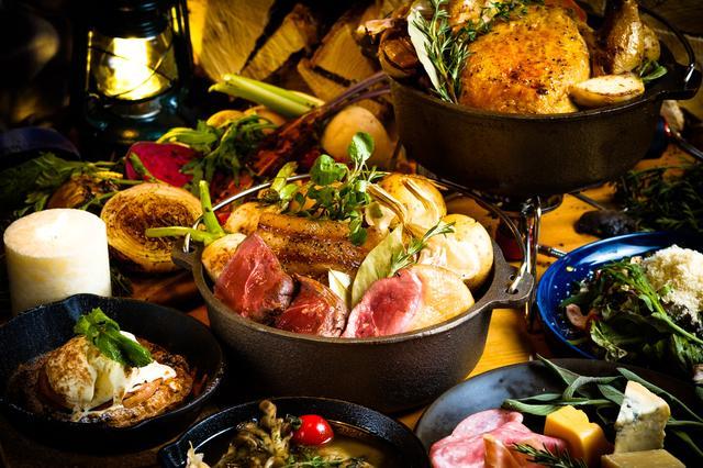 """画像1: この夏SNSで話題の""""グランピング""""料理を堪能!ダッチオーブンで旨味溢れる肉料理を体験"""