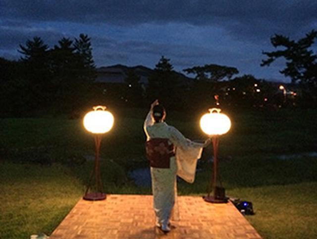 画像: 大文字送り火と地歌舞の夕べ  8月15日(火) |  奈良ホテル | 公式サイト Nara Hotel Official Site
