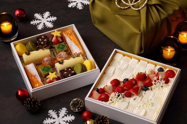画像1: 風呂敷で包まれたクリスマスケーキが登場!