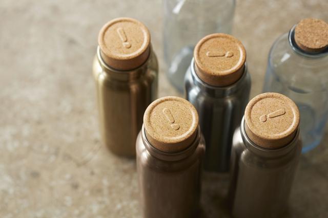 画像2: アンティークのガラスコルク瓶がステンレスボトルに