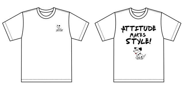 """画像: 『王(わん)さん』誕生記念Tシャツ ¥2,599+税 さらに、今回は人気のトレンドアイテムがコラボレーションアイテムとなって登場! Da-iCEロゴや、SPINNSのコンセプトである「ATTITUDE MAKES STYLE!」の文字がデザインされたBIGサイズの""""ジャージトップス""""""""オープンカラーシャツ""""そして""""サコッシュ""""とLIVEにもデイリーにも着用できる、ユニセックスアイテムが発売されます。"""