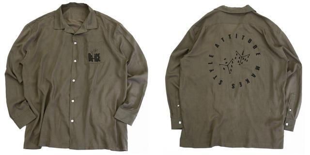 画像: オープンカラーシャツ ¥3,999+税 (color:KHAKI)