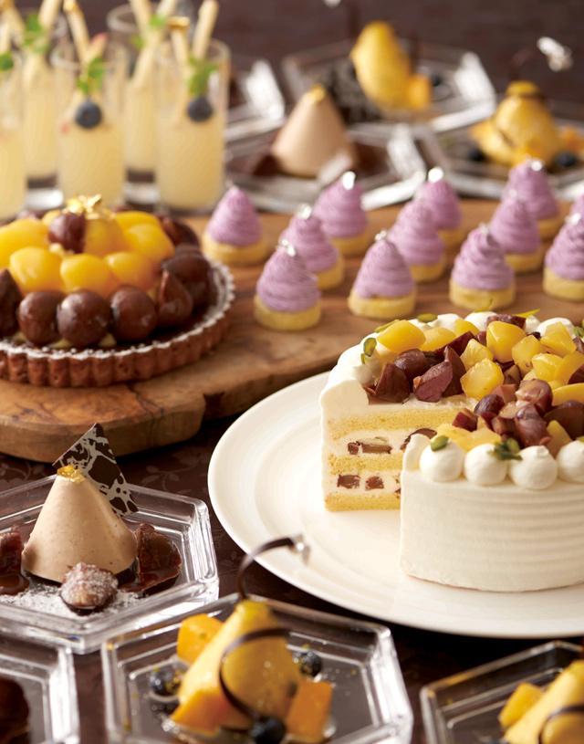 画像1: マロンや洋梨、ぶどうなど秋の実りをスイーツで召し上がれ!