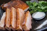 画像: ぶたや一歩一歩/地中海の塩で食べる ガリシア栗豚のローストポーク】