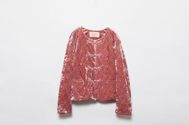 画像: B0.5F Another Edition 注目のチャイナキルティングジャケット。この秋冬の着こなしに大活躍間違いなしです。ラフォーレ原宿店限定で<PINK>カラーを展開。 チャイナキルティングジャケット¥17,280(税込)