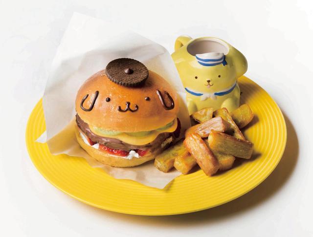 画像: ハンバーガーそっくり!ポムポムプリンのスイーツバーガープレート