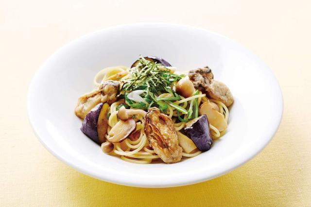 画像: 広島産牡蠣と松茸と九条ネギの和風スパゲッティ 999円