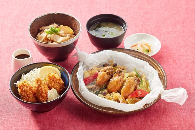画像: 松茸ごはんと広島産牡蠣のよくばり御膳 1,399円