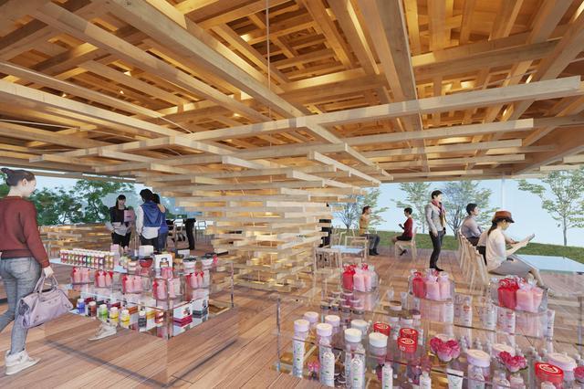 画像7: 建築家 隈 研吾氏の設計、大きな木のような絶景カフェが熱海に誕生!