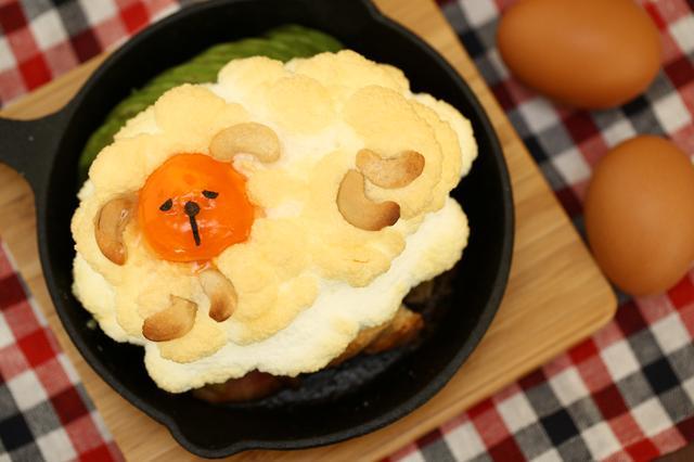 画像: 新鮮たまごで作るインスタジェニックな かわいい羊のエッグインクラウド