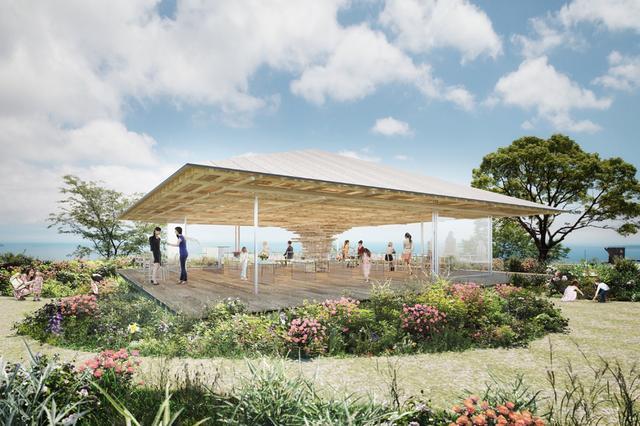 画像1: 建築家 隈 研吾氏の設計、大きな木のような絶景カフェが熱海に誕生!