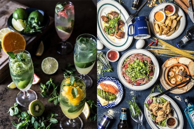 画像: ディナーは、バルスタイルでお酒に合う小皿料理を豊富にご用意