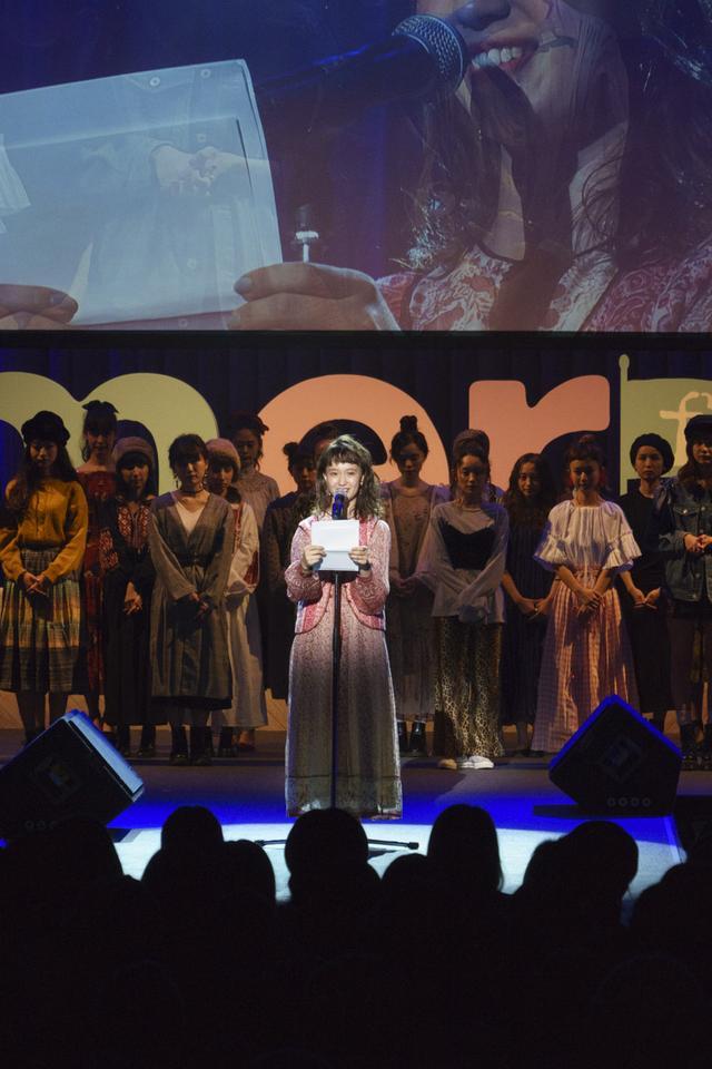 画像: モデル・柴田紗希によるトークステージ