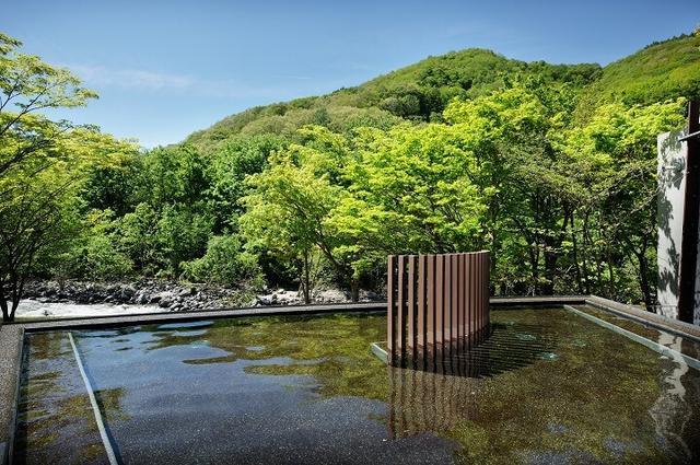 画像2: 日本初!温泉につかって氷瀑を眺められる露天風呂