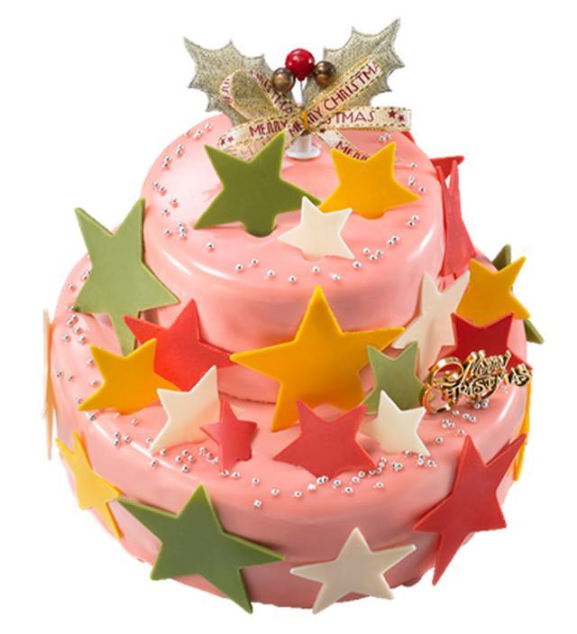 画像: 小田急限定『パティスリーイソザキ』エトワールショコラ (上段直径約10cm/下段直径約15cm) 8,100円 【限定30台】 ビターなショコラ、甘いミルクチョコレート、酸味のあるタイベリージュレのマリアージュが絶妙な下段と、上段のシンプルなチョコレートケーキを同時に楽しめる贅沢なケーキ。