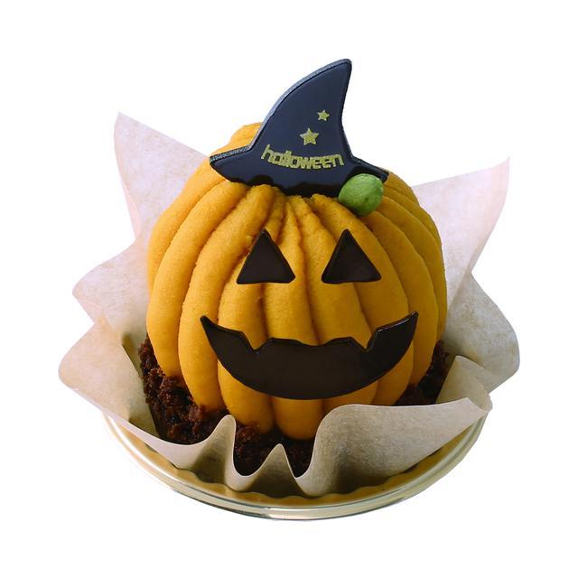 画像: 『ヴィタメール』ポティロン 648円/1個 各日限定20個<販売中~10月31日> ショコラマドレーヌの土台に、キャラメルクリーム入りのプチシュークリームをのせ、北海道産えびすかぼちゃのクリームを絞った限定ケーキです。