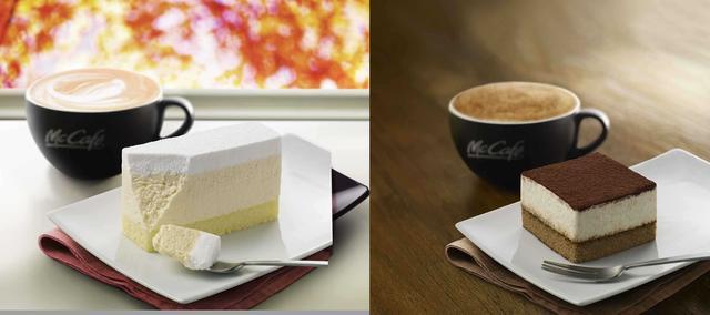 """画像1: """"McCafe by Barista""""に、「レアチーズケーキ」と「ティラミス」が登場!"""