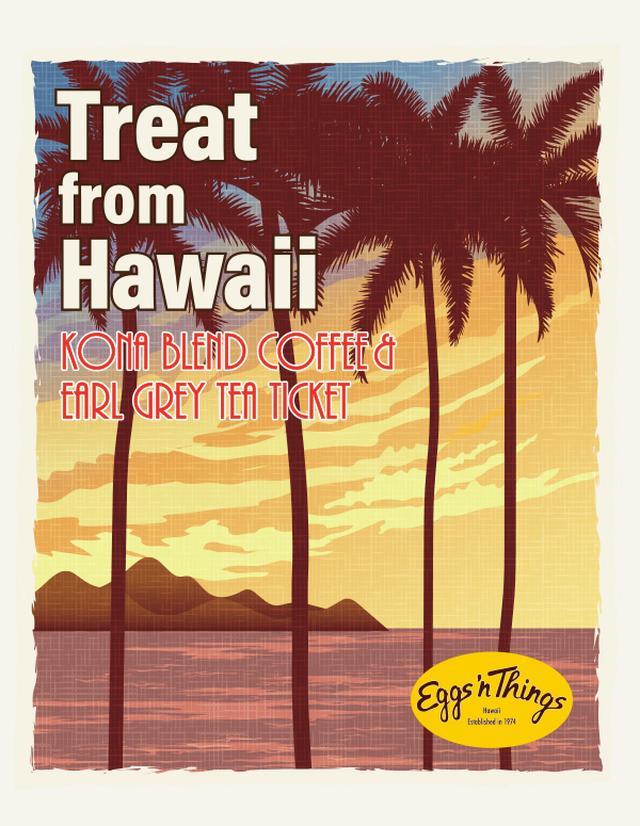画像: 「Treat from Hawaii」キャンペーン コナコーヒーブレンドかアールグレイティーを先着20,000名様にプレゼント! ハロウィン限定メニューをご注文頂いた先着20,000名様(※各店舗先着1,000名様以上)に、次回ご来店にご利用頂ける「コナコーヒーブレンド/アールグレイティー(Hot/Ice)チケット」をTreat(ご褒美)プレゼント。