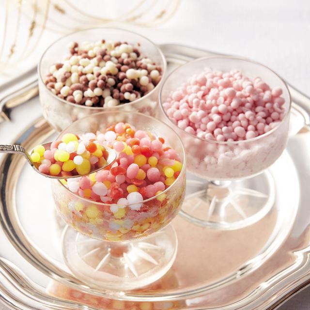 画像: つぶつぶアイス「ミニメルツ」9個セット 3,600円/12個セット4,800円 内容量:3種(ストロベリー60g、チョコバニラ60g、レインボー55g)、9個セットは各3個(計9個)、12個セットは各4個(計12個) マイナス196℃で美味しさをギュッと瞬間冷凍。ストロベリーとチョコバニラはフワッととろける食感、レインボーは、シャーベットタイプでさっぱりお召し上がりいただけます。