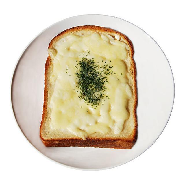 画像: ■チーズトースト 350円(税込) 店内仕込みの食パンを厚めにスライスし、チーズをたっぷりかけて焼き上げました。パンとチーズの間に薄く塗った、手作りの豆乳マヨネーズが美味しさの秘訣です。