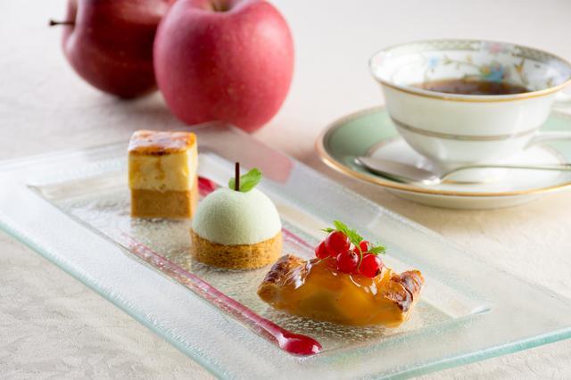 画像: 「3種のりんごデザート」 1,200円(税込)