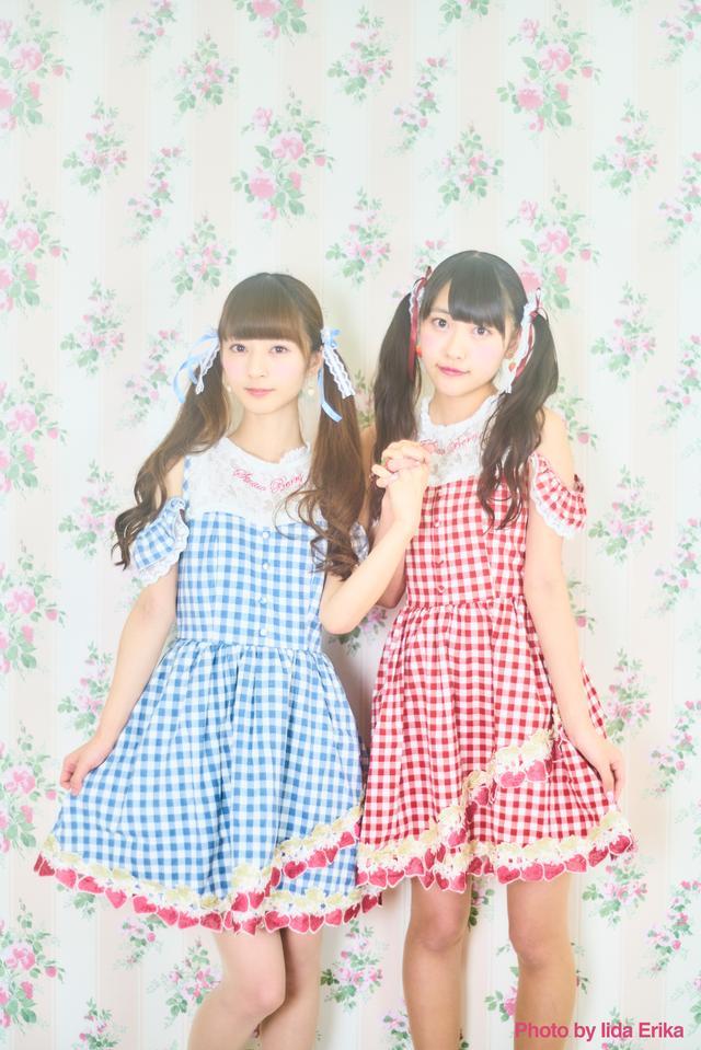画像: 左:ミスいちご2017/月乃雫さん、右:初代ミスいちご/宮島るりかさん