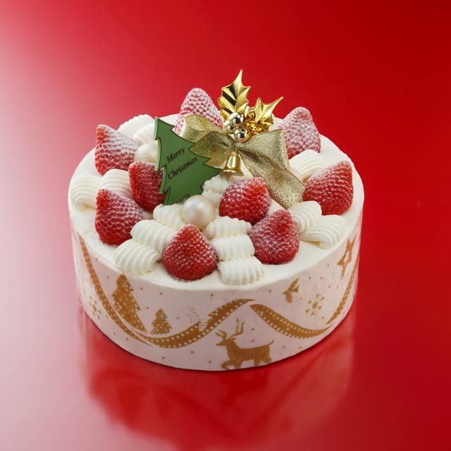 画像: <新作>ノエル・ザ・ショートケーキ アンリ・シャルパンティエで一番人気の『ザ・ショートケーキ』がクリスマス仕様に。リボンをイメージしたデコレーションに、定番のモチーフを合わせた、クリスマスの食卓を華やかに彩るケーキです。オリジナルの生クリームをたっぷり使い、中にもいちごをふんだんに挟みました。ふわふわのスポンジ、軽い口当りの生クリーム、いちごの酸味と甘みのバランスが絶妙な逸品です。 価格:10.5cm(2人分)¥2,700/12cm(3~4人分)¥3,500/ 15cm(4~6人分) ¥4,500/18cm(6~8人分) ¥5,500