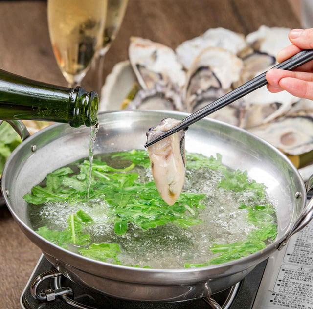画像: お酒が選べる「国産牡蠣の酒しゃぶ」
