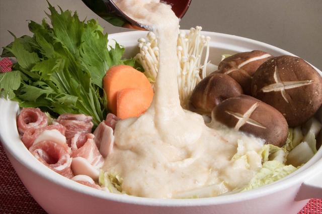 画像: 九州産の大薯(ダイジョ)を使ったとろろ鍋