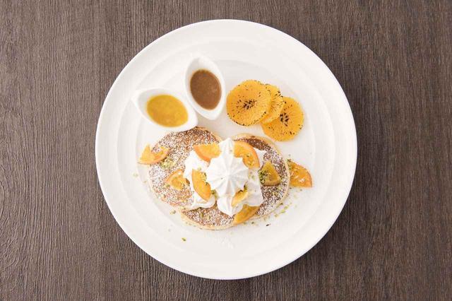 画像2: 「サラベス」ルミネ新宿店限定!スペシャルパンケーキ『スノーウィ―オレンジパンケーキ』