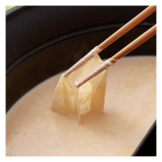 画像: 有機大豆の豆乳だし 湯葉ができるほど濃厚な豆乳だし。豆乳のまろやかさでとってもやさしい味わいに。
