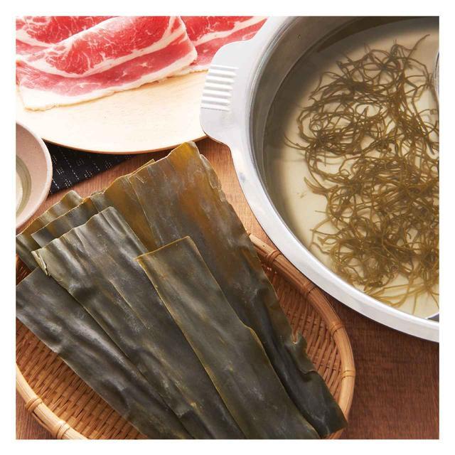 画像: 北海道の恵み 根昆布だし 北海道産の昆布を細切りにすることで、おだしに旨味が広がります。さっとしゃぶしゃぶすることで素材本来の旨味を楽しめます。