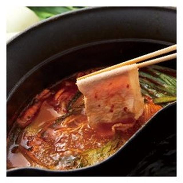 画像: 四川豆板醤の旨辛火鍋だし 選べる辛さは4段階。コクのある味わいと深みのある辛さを楽しめます。唐辛子の辛味が甘味のある豚肉や国産野菜を際立たせてくれます。