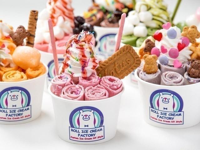 画像1: 原宿で行列の日本初ロールアイスクリーム店が大阪に!