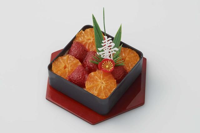 画像: フルーツたっぷりプリンアラモード 定番のプリンアラモードをおせち風にアレンジしました。フルーツのほどよい酸味とプリンとの相性はばっちり。後味もすっきり爽やかです。