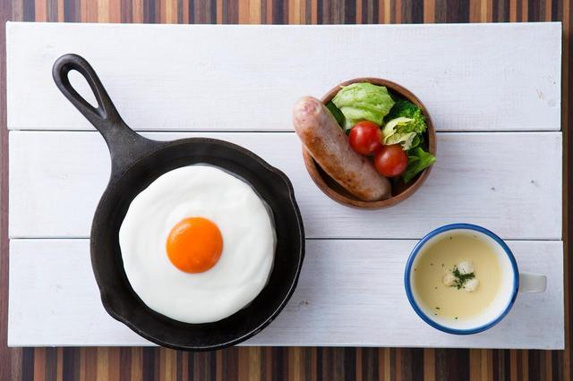 画像: 商品名「メダマヤーキ」 販売価格 1,200円(税抜)朝食に食べたいパンケーキ「メダマヤーキ」がついにデビュー!