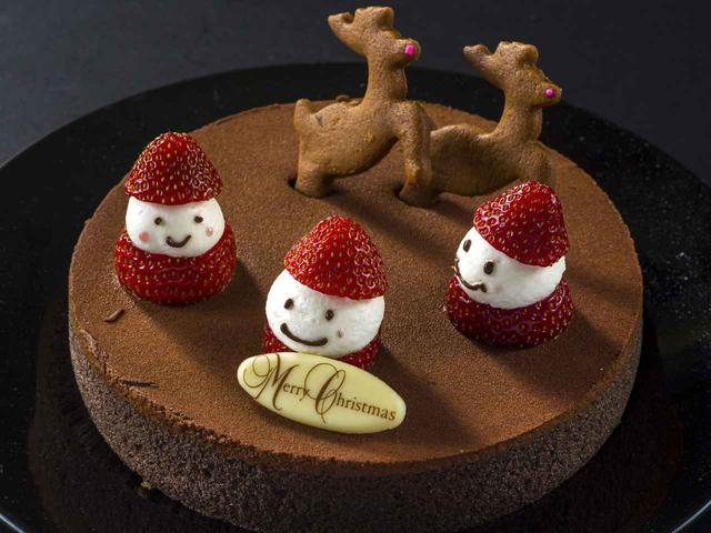 画像: いちごサンタのチョコレートケーキ