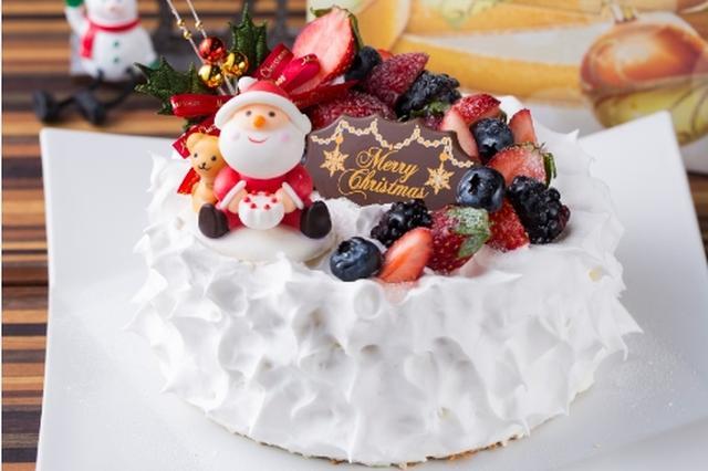 画像: いちごショート 販売価格3,800円 いちごのショートケーキをクリスマスバージョンにトッピング!オリジナルブランドのいちご「BonBon Berry」を使用。甘酸っぱいいちごとホイップクリーム。お子様からご年配の方まで幅広く楽しめます。