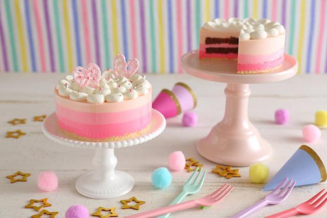 画像1: Whip×戸板女子短期大学コラボメニュー『ピンクのグラデーションケーキ』